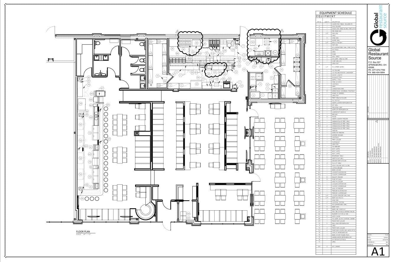 Blueprint Global Restaurant Source Schematic Services Interior Design