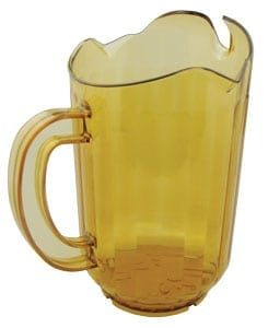 Pitcher, 3 Spout, 60 oz Polycarb Amber