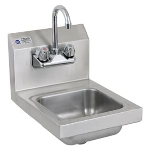 Space Saver Sink with Faucet, 12″ | Global Restaurant Source