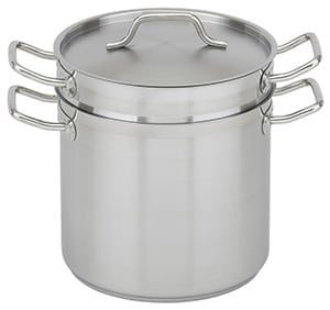 Stainless Steel Double Boiler with Lid, 20 qt
