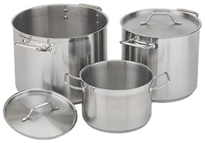 Nsf Stainless Steel Stock Pot With Lid 20 Qt Global Restaurant Source