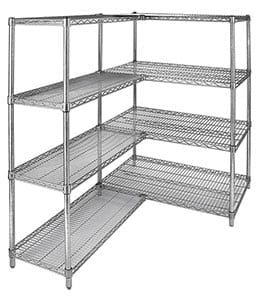 "Polycoated Zinc Wire Shelf, 14"" x 48"" Long"